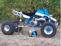 Curt's 1st Place trophy — won with his F.A.S.T. Racing 4mm stock cylinder.