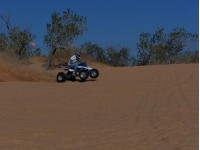 Cody's dragger in action at Oklahoma Dunes!