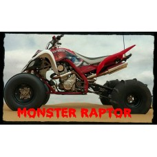 Monster Exhaust - 06-14 Raptor 700 Duals