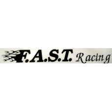 F.A.S.T. Racing Sticker Long